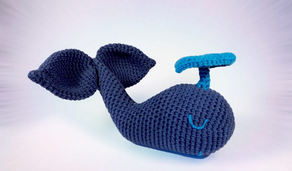 Baby Humpback Crochet Whale Free Pattern - One Dog Woof | 600x1020